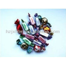 colored twist candy film