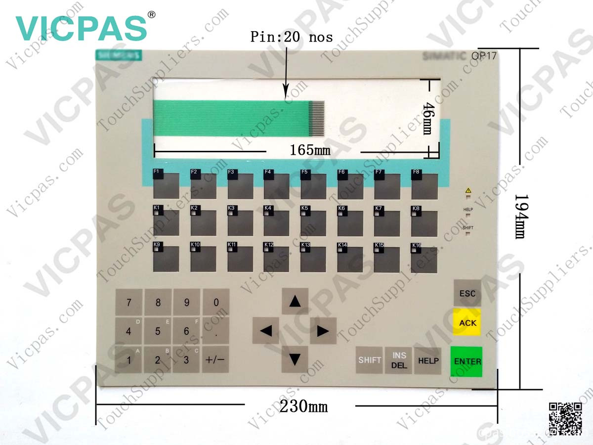 6AV3617-1JC00-0AX1 keypad membrane keyboard