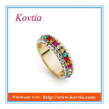 2016 new wholesale jewelry fully micro pave crystal ring for women