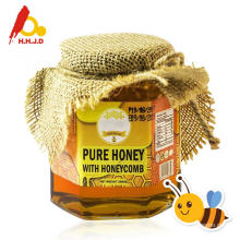 Natural polyflower honey on skin