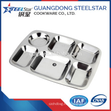 New products stainless steel deep snack tray / fast food tray