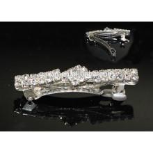 Silver Charming Rhinestone Hairgrip Accessoires pour cheveux Glitter Crystal Barrette