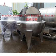 600 Liters Vertical Steam Heating Jacketed Kettle