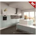 Glossy impermeável MDF cozinha gabinete desenhos com acessórios cesta