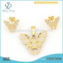 Prix de gros maroquinerie et boucles d'oreilles ensembles de bijoux pour femmes