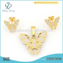 Wholesale price wedding locket & earrings jewelry sets for women