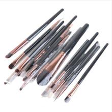 15PCS Make-up Kosmetik Pinsel Set mit Lidschatten Augenbraue Bleistift Bürsten