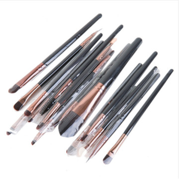 15PCS Maquiagem Cosmetic Brush Set com Sombra Eyebrow Pencil Brushes