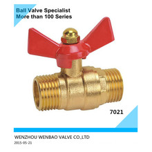 Male Threaded Butterfly Handle Brass Ball Valve