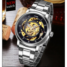 New design sapphire crystal carrying see-through case back automatic watch