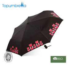 Auto ouvrir et fermer imprimé pliant parapluie publicitaire