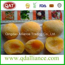 Décoration à la pêche à la zèbre jaune congelée IQF Yellow Peach