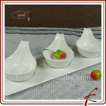 Hot Style White Porcelain Ceramic Serving Dish Dinner Set