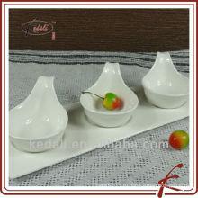 Горячий стиль белый фарфор керамический сервировочный набор блюд