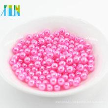 Chine Approvisionnement en usine lâche ronde Perles en plastique de perle de Faux pour le mariage bricolage bijoux accessoires