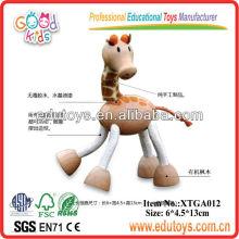 Juguetes de jirafa de madera, mini juguetes de animales