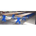 Промышленного Ретро-Бар Скамья Синий Крест Металлическими Ножками