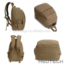 Mochila de lona de diseño nuevo mochila escolar al aire libre