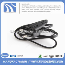 EU 2 Prongs Type8 Flat AC Power Cable for Laptop