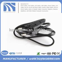 Flat EU 2 Prongs Tipo8 Laptop AC Power Kabel
