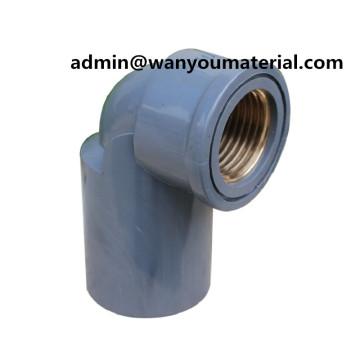 Latest-Sch80 PVC Pipe Copper Thread 90deg Female Elbow
