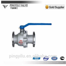 stainless steel ball valve PN 16 flange end