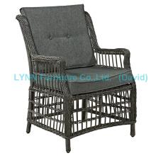 Poltrona de pátio Round Rattan Single Sofa Garden Furniture