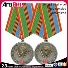 изготовленный на заказ покрынные золотом медали значки щита