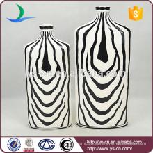 Florero de la decoración de la cebra-raya hecho en China