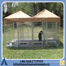 Baochuan-- Powder coated square tube dog cage 2-room 2-door