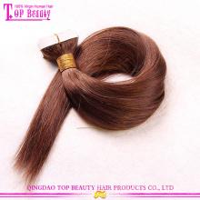 Alta qualidade 100% virgem brasileira sedoso direto remy humano cabelo extensão da fita