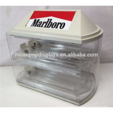 2-Shelves 6 Pushers 8 Slots Retail Store Countertop Cheap Vintage Retail Acrylic Cigarette Display Case