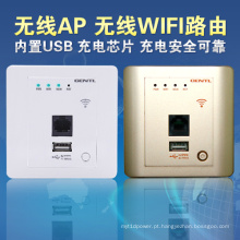 150Mbps de alta velocidade no router sem fio da parede com o USB para salas de hotel, hotel WiFi Ap, router sem fio encaixado de Metope