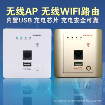 Router sem fio 150Mbps da parede para o hotel e a casa usados com USB