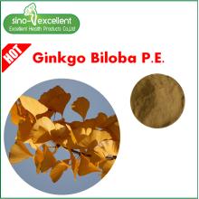Натуральные флавоны 24% экстракт листьев гинкго билоба