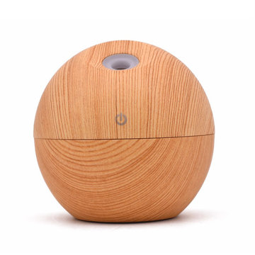 130ml Wood Ultrasonic Cool Mist Humidifier for Office