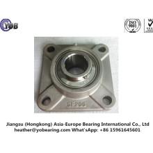 Caixa de rolamento de aço inoxidável da unidade de flange quadrada