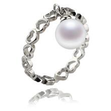 Sterling Silber Top Verkauf Süßwasser Perle Ring