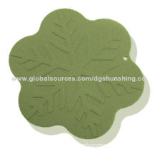 Hot sale silicone cup mat, OEM service provided