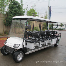 6 passenger gasoline sightseeing bus with two back towards seater