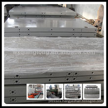 Oil heating platen for hydraulic hot press