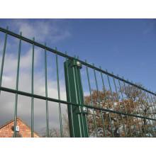 PVC de revestimiento de hierro doble alambre de seguridad valla