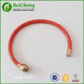 bracelets bracelet magnétique de raie rouge cuir rose or inox