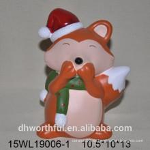 Fox decoración de cerámica en varios colores