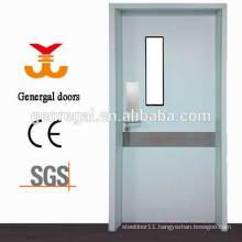 Steel hospital fire rated glass door