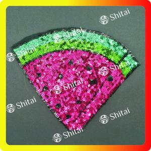 Sequins watermelon patches with heat seal