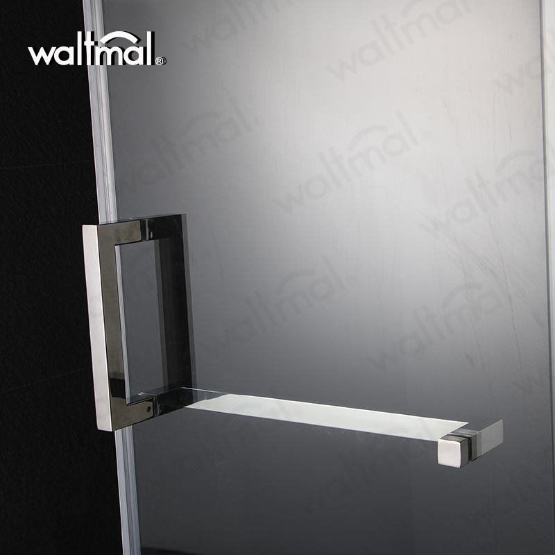 High Quality Diamond Shape Chrome Surface Shower Swing Glass Door