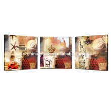 Arte nova da parede do vintage para a impressão da lona do cair / Triptych para a impressão da decoração / Giclee