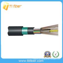 Cabo de fibra exterior cabo de aço inoxidável blindado GYFTY53