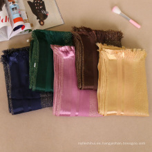 Las mujeres de moda largo hijab bufanda dubai piedra gliter shimmer brillo algodón amplia hijab bufanda